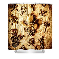 Skeleton Pendant Party Shower Curtain by Jorgo Photography - Wall Art Gallery