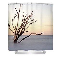 Skeleton Tree In The Ocean Shower Curtain