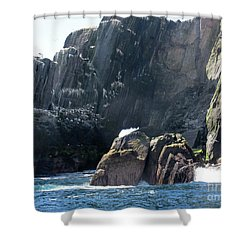 Skellig Islands 3 Shower Curtain