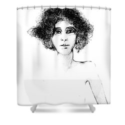 Sketch 108 Shower Curtain