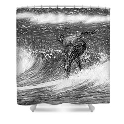 Sketch A Wave Shower Curtain
