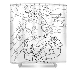 Sketch A9 Shower Curtain