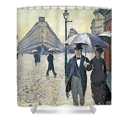 Sketch For Paris A Rainy Day Shower Curtain by Gustave Caillebotte