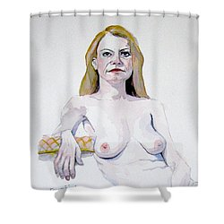 Sketch Mary Leaning Shower Curtain