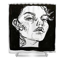 Sketchbook Scribbles Shower Curtain