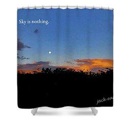 Skg Is Nothing Shower Curtain by Jack Eadon