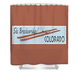 Shower Curtain featuring the digital art Ski Breckenridge Colorado by Edward Fielding