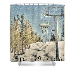 Ski Colorado Shower Curtain