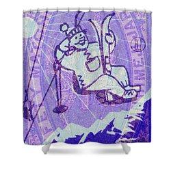 Ski Match Salute Shower Curtain by Nop Briex
