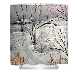 Ski Trail Shower Curtain