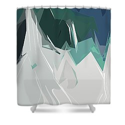 Ski Trails Shower Curtain