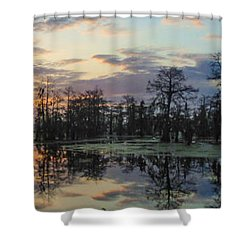 Skies Across The North End Shower Curtain by Kimo Fernandez