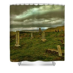 Skies And Headstones #g9 Shower Curtain