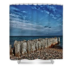 Shower Curtain featuring the photograph Skies Of Superior by Rachel Cohen