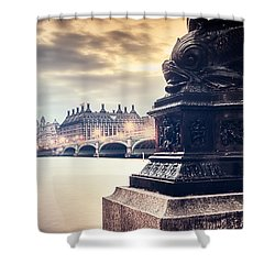 Skies Over London Shower Curtain