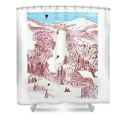 Skiing Deer Valley Utah Shower Curtain