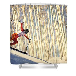Skiing In Aspen, Colorado Shower Curtain