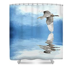 Skimming Shower Curtain