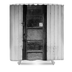 Shower Curtain featuring the photograph Skinny Door by Erin Kohlenberg