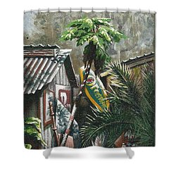 Skippers Smokehouse At Daylight Shower Curtain