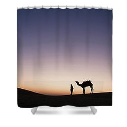 Skn 0860 Dawn At The Dunes Shower Curtain by Sunil Kapadia
