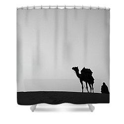 Skn 0864 On The Dune Shower Curtain