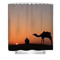 Skn 0870 Silhouette At Sunrise Shower Curtain