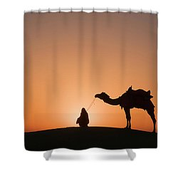 Skn 0893 The Halo Of Sunrise Shower Curtain by Sunil Kapadia