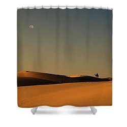 Skn 1117 Camel Ride At 6 Shower Curtain by Sunil Kapadia