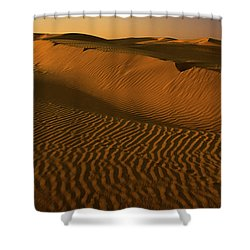 Skn 1127 The Golden Dunes Shower Curtain