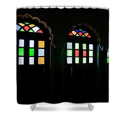 Skn 1251 Glass Hues Shower Curtain
