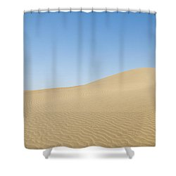 Skn 1412 The Ripples On The Slope Shower Curtain by Sunil Kapadia