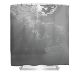 Skn 2170 Blessings Showered Shower Curtain by Sunil Kapadia