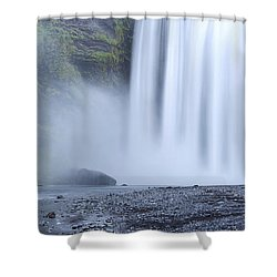 Skogafoss Mist Shower Curtain