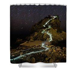 Skopelos Shower Curtain by Evgeni Dinev