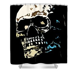 Skull Against A Dark Background Shower Curtain