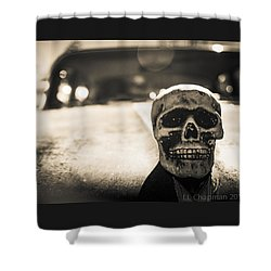 Skull Car Shower Curtain