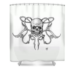 Skull Design Shower Curtain