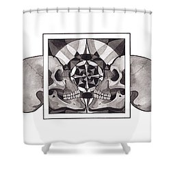 Skull Mandala Series Nr 1 Shower Curtain