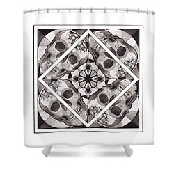Skull Mandala Series Number Two Shower Curtain