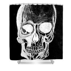 Skull Study 3 Shower Curtain