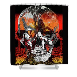 Skull Times Three Shower Curtain
