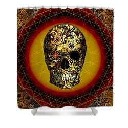 Skullgear Shower Curtain by Iowan Stone-Flowers