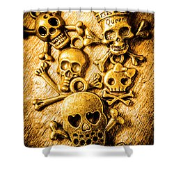 Shower Curtain featuring the photograph Skulls And Crossbones by Jorgo Photography - Wall Art Gallery