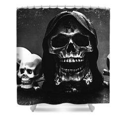 Skulls Shower Curtain by Martina Fagan
