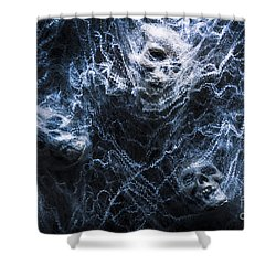 Skulls Tangled In Fear Shower Curtain by Jorgo Photography - Wall Art Gallery