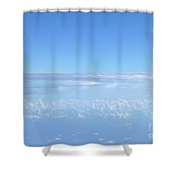 Shower Curtain featuring the photograph sky and clouds M1 by Francesca Mackenney