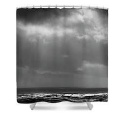 Shower Curtain featuring the photograph Sky And Ocean by Ryan Manuel