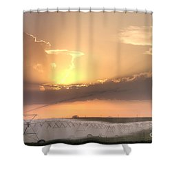 Sky And Water Shower Curtain by Art Whitton