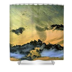Cloud Art Inverted Colors Shower Curtain